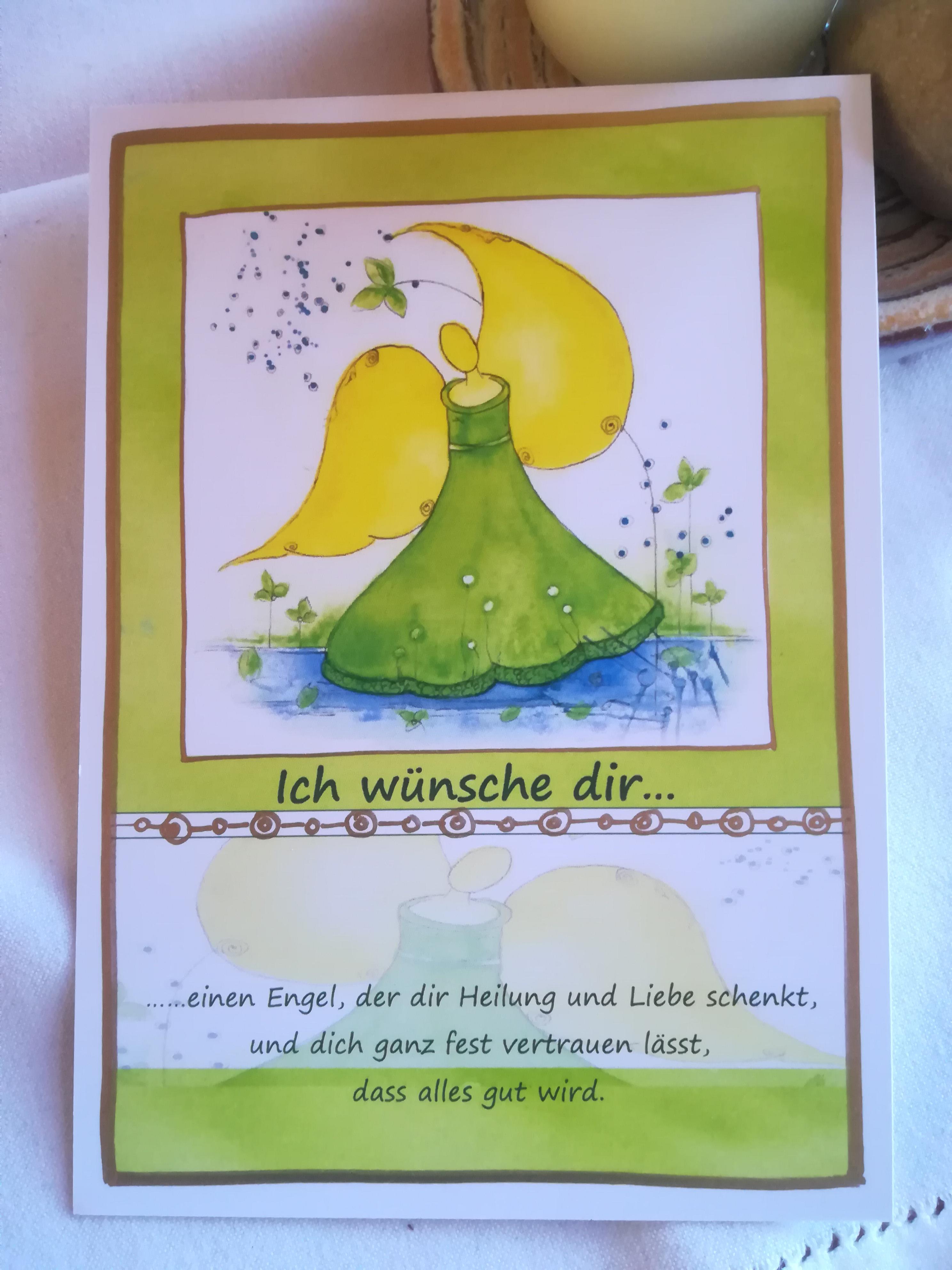 """Postkarte """"Ich wünsche dir..."""""""