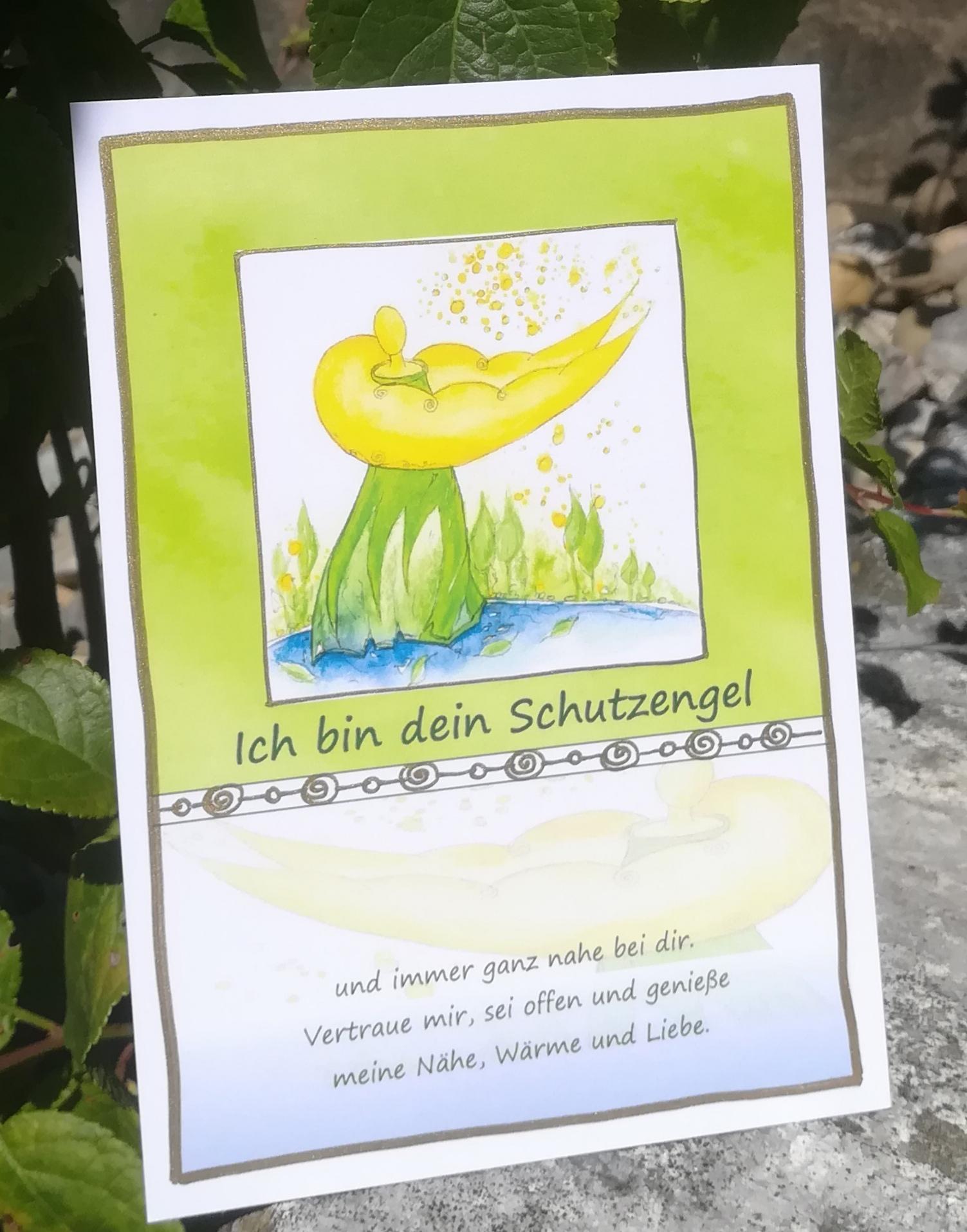 """Postkarte """"Ich bin dein Schutzengel"""""""