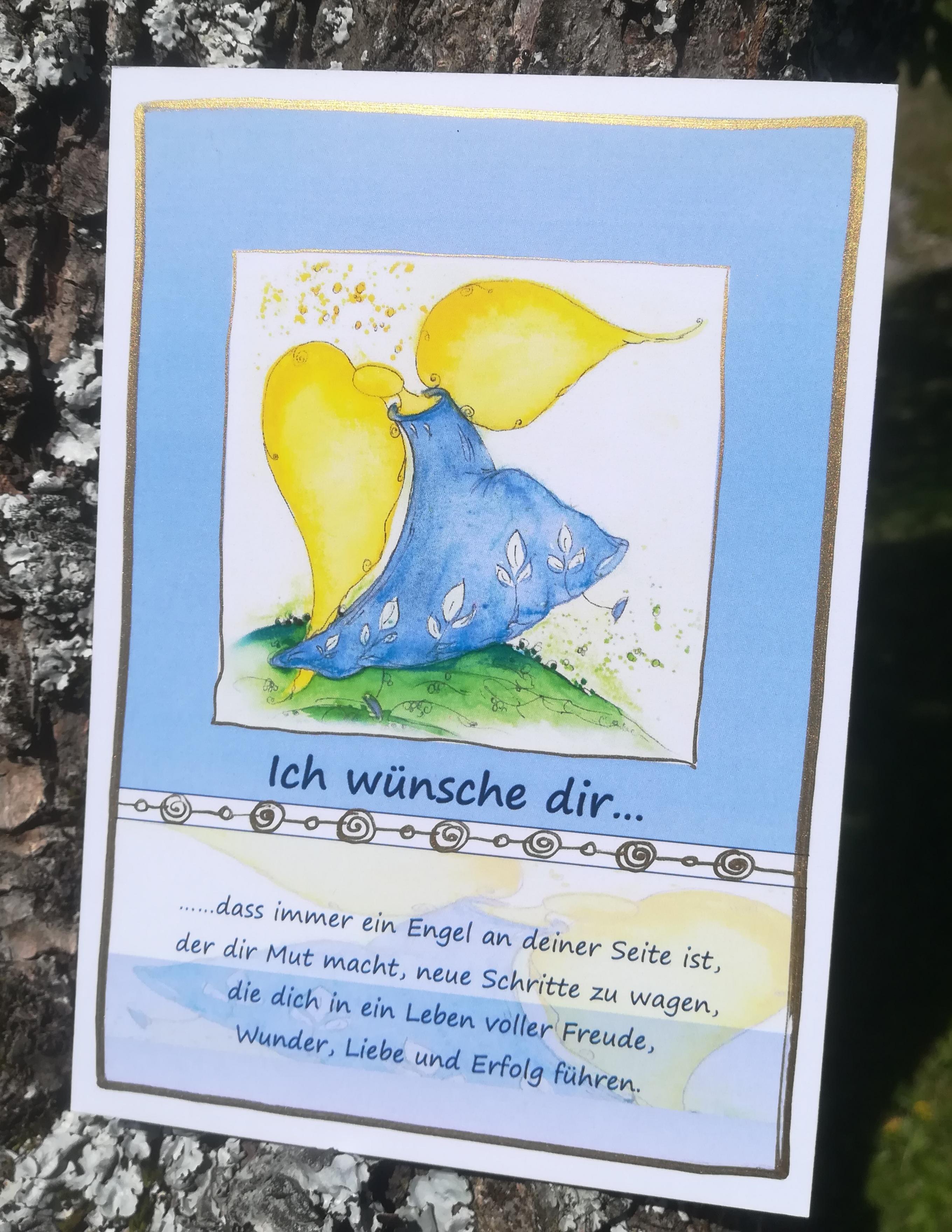 """Postkarte """"Ich wünsche dir...."""""""
