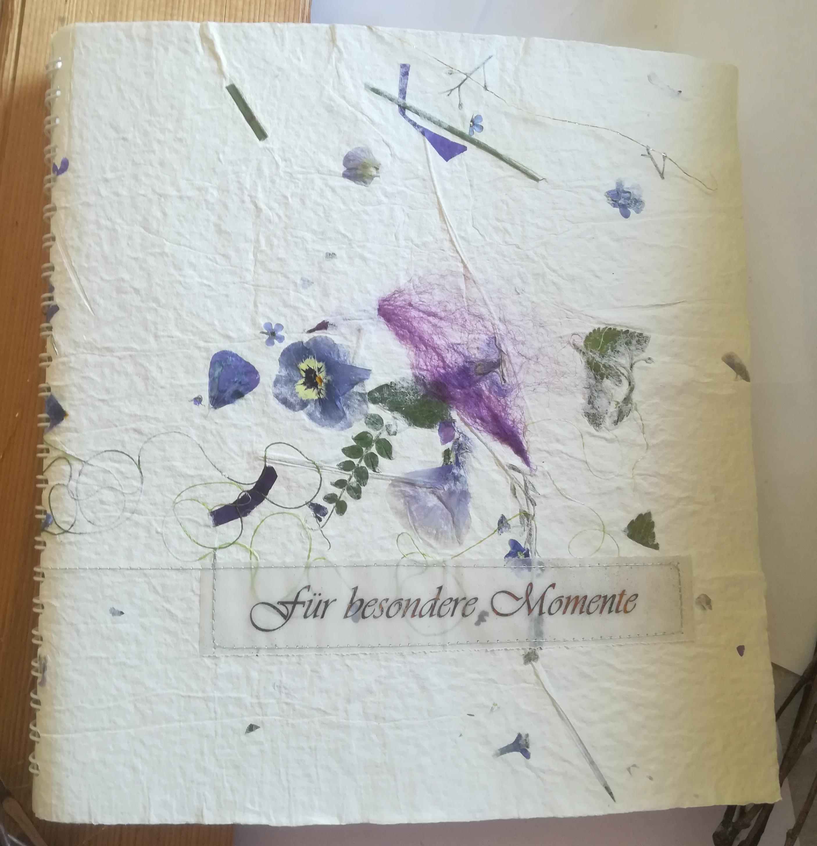"""Schreibbuch   """"Für besondere Momente"""""""