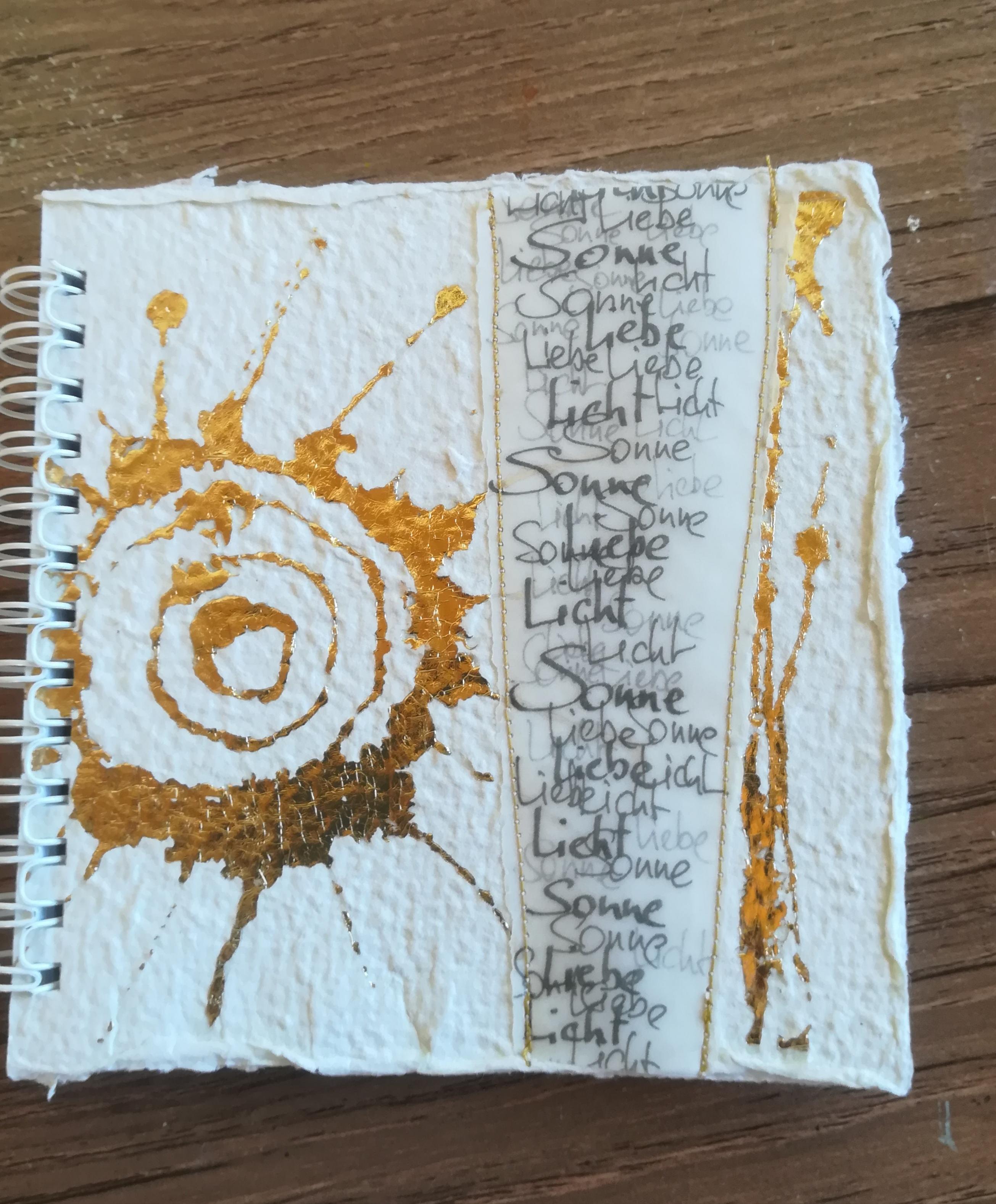 """Schreibbuch """"Goldene Sonne"""""""
