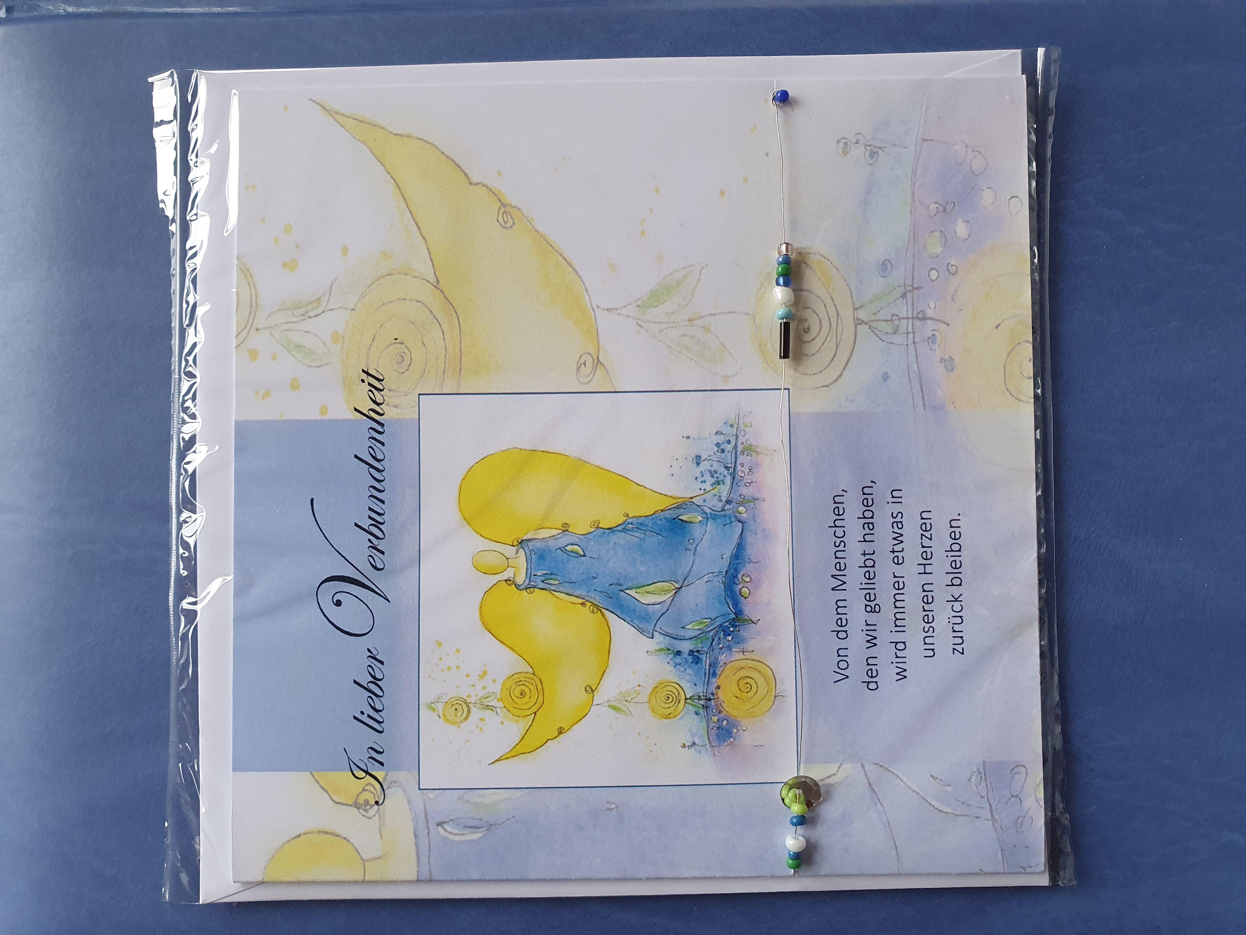 """Trauerkarte  """"blauer Engel"""""""