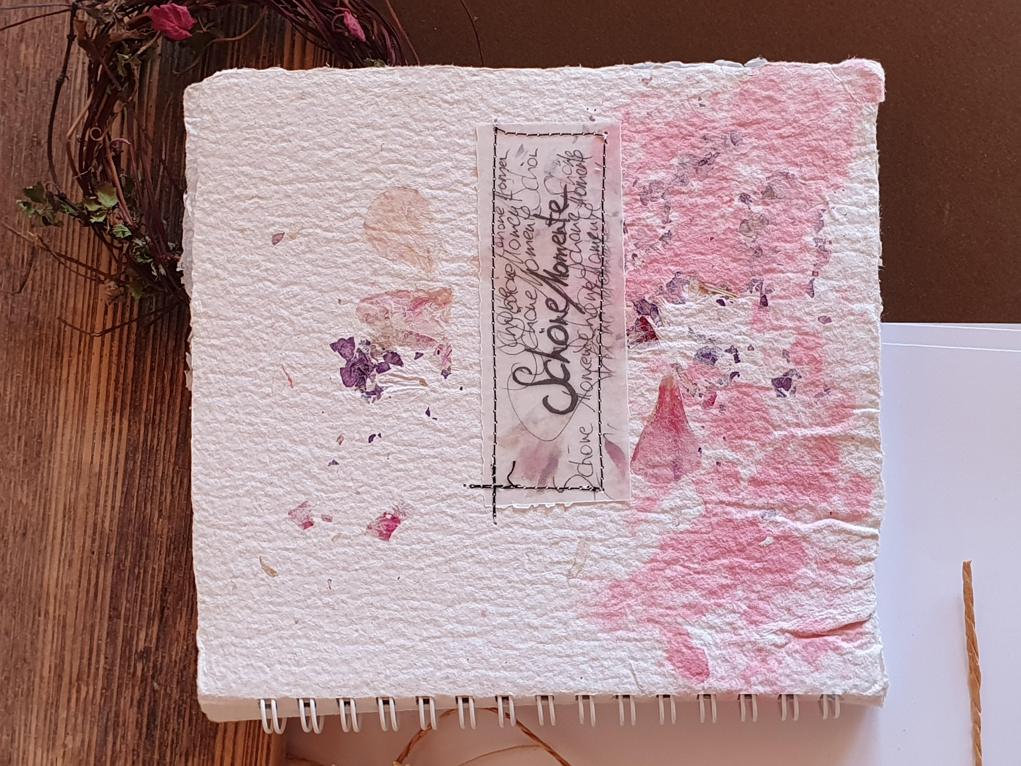 """Schreibbuch """"Schöne Momente in Rosa"""""""
